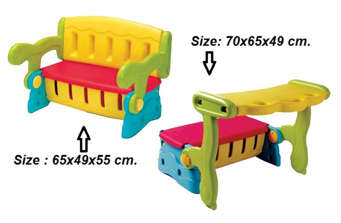 sk-630 เก้าอี้เด็ก 3 in 1   49x65x50 cm.