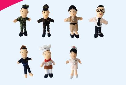 หุ่นมือตุ๊กตาอาชีพ